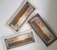 "Wood Float Frames 7"" x 23"""
