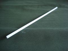 "(PDR/.250-12) White Acetal 1/4"" diameter x 12"""