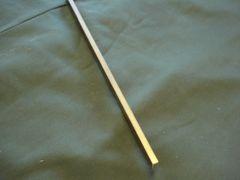 """(XBF360/.250X.625-12) Brass 360 flat 1/4"""" x 5/8"""" x 12"""""""