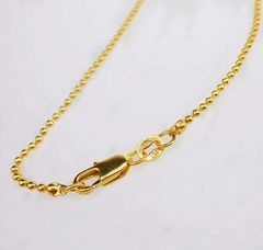 "18kt Yellow Gold Filled 16"" Beaded Chain Necklace With Lobster Claw Clasp"