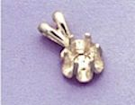 14kt Gold or Sterling Silver Round Buttercup Pendant Setting (2-5.5mm)