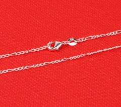 """925 Sterling Silver 16"""", 18"""", 20"""" 24"""", 26"""" 28"""" & 30"""" Three Lap Chain With Crab Claw Clasp"""