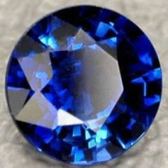 ROUND BRIGHT BLUE LAB CREATED SAPPHIRE (1mm to 13mm)