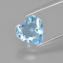 HEART FACETED AAA BRIGHT LIGHT SKY BLUE (NATURAL) TOPAZ