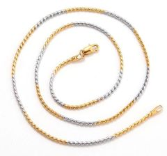 "10kt White & Yellow Gold Filled 20"" Link Chain With Lobster Claw Clasp"