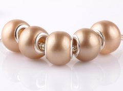 5 Pieces Silver Plated Murano Lampwork Pearl Bead Collection