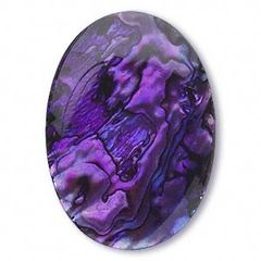 OVAL CABOCHON GENUINE BRIGHT PAUA PURPLE SHELL (6x4mm - 10x8mm)