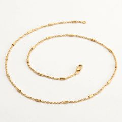 "14kt Yellow Gold Filled 19.5"" Fancy Chain With Lobster Claw Clasp"