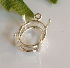 14kt Gold or Sterling Silver Oval Cast Wire Dangle Pendant Setting (7x5-30x22mm)