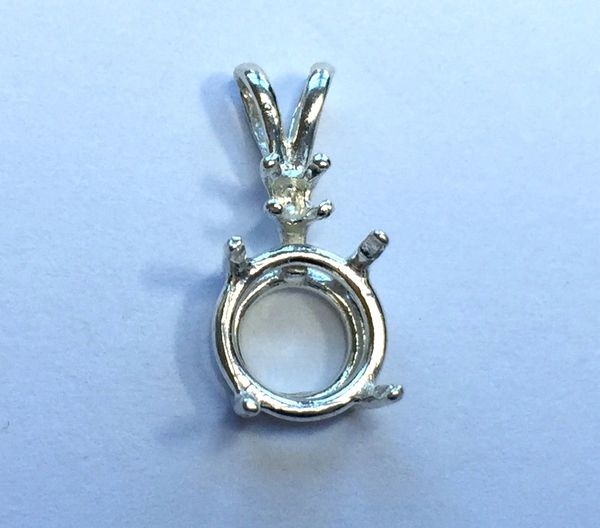 Round Single Accented Cast Wire Pendant Setting | Gems and Settings ...