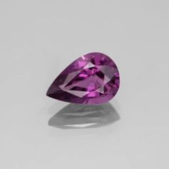 PEAR FACETED AAA BRIGHT PURPLE RED (NATURAL) RHODOLITE GARNET (6x4-10x7mm)