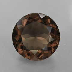 ROUND FACETED AAA BRIGHT SMOKY GOLD (NATURAL) QUARTZ