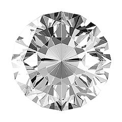 ROUND FACETED AAA BRIGHT WHITE (NATURAL) DIAMOND, H or better, I1 or better