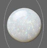 MASTERPIECE COLLECTION: ONE ROUND CABOCHON GENUINE WHITE (WITH RAINBOW COLORS) OPAL (3mm - 6mm)