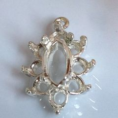 14kt Gold or Sterling Silver Light Marquise Cluster Dangle Setting (8x4mm)