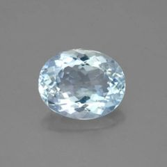OVAL FACETED AAA BRIGHT BLUE GREEN (NATURAL) AQUAMARINE (5x3-8x6mm)