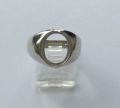 Sterling Silver Oval Cabochon Pre-Notched Ring Setting Size 9, 10 or 11 (10x8-16x12mm)
