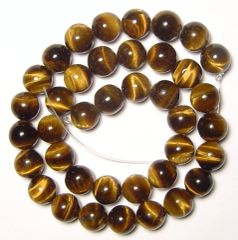 "16"" Strand of AAA Rated Genuine (Natural) Tiger Eye Beads (3mm-12mm)"