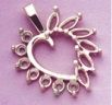 14kt Gold or Sterling Silver Round Accented Marquise Heart Setting (5x2.5mm)