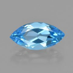 MARQUISE FACETED AAA BRIGHT SWISS BLUE (NATURAL) TOPAZ