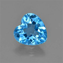 HEART FACETED AAA BRIGHT SWISS BLUE (NATURAL) TOPAZ