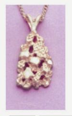 14kt Gold or Sterling Silver Nugget Style Pendant Setting