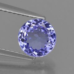 ROUND FACETED AAA BRIGHT BLUE (NATURAL) IOLITE