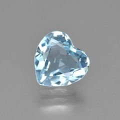 HEART FACETED AAA BRIGHT BLUE GREEN (NATURAL) AQUAMARINE