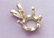 14kt Gold or Sterling Silver Round 6-Prong Pendant Setting (3-9mm)