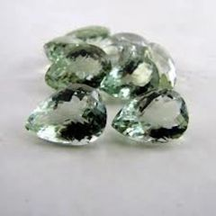 PEAR FACETED AAA BRIGHT MINT GREEN (NATURAL) AMETHYST (6x4-16x12mm)
