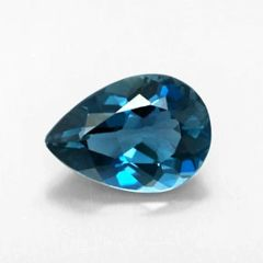 PEAR FACETED AAA BRIGHT (NATURAL) LONDON BLUE TOPAZ (6x4-12x8mm)