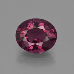 OVAL FACETED AAA BRIGHT PURPLE RED (NATURAL) RHODOLITE GARNET (5x3-10x8mm)