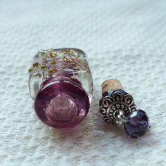 Lovely Murano Lampwork Art Glass Perfume Bottle