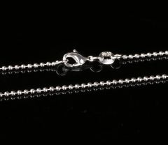 "26"" Silver Plated Bead Chain with Crab Claw Clasp"