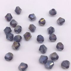 100 Pieces 4mm Round Shiny Crystal 5301 Bicone Beads