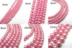 150 Pieces 4mm Round Shiny Czech Glass Pearl Beads