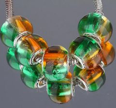 5 Pieces Silver Plated Murano Lampwork Funky Bead Collection
