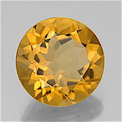 ROUND FACETED AAA BRIGHT GOLDEN (NATURAL) CITRINE