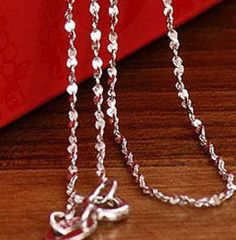 "18kt White Gold Plated 18"" Starry Chain With Spring Ring Clasp"