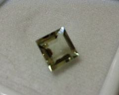 SQUARE FACETED AAA BRIGHT MINT GREEN (NATURAL) AMETHYST (4x4-12x12mm)