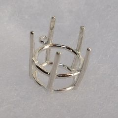 14kt Gold or Sterling Silver Round 5-Prong Deep Cut Dangle Setting (9-15mm)