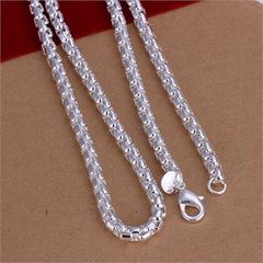 "Silver Plated 20"" Heavy Fashion Chain with Crab Claw Clasp"