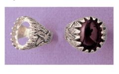Sterling Silver Oval Cabochon Pre-Notched Eagle Donello Ring Setting Size 8-14 for 16x12 & 18x13mm Stones