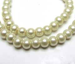 30 Pieces 8mm Round Bright Czech Glass Pearl Beads