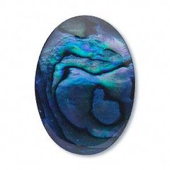 OVAL CABOCHON GENUINE BRIGHT PAUA BLUE SHELL (6x4mm - 10x8mm)