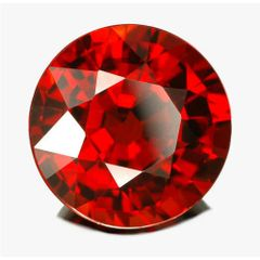 ROUND FACETED AAA BRIGHT ORANGE RED (NATURAL) MOZAMBIQUE GARNET