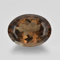 OVAL FACETED AAA BRIGHT (NATURAL) SMOKY QUARTZ (14x10-20x15mm)