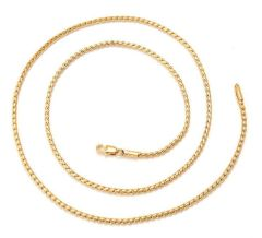 "10kt Yellow Gold Filled 24"" Link Chain With Lobster Claw Clasp"