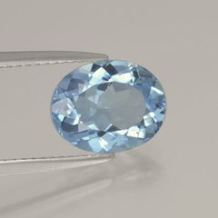 OVAL FACETED AAA BRIGHT (NATURAL) SKY BLUE TOPAZ (6x4-20x15mm)