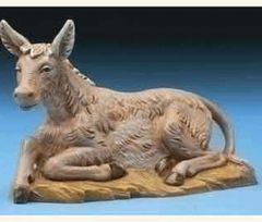 5 Inch Scale Fontanini Seated Donkey 54017